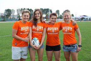 Na zdjęciu od lewej drużyna rugby 7: Marcelina Falkiewicz, Paulina Kucia, Barbara Kocur, Patrycja Sierżanowska